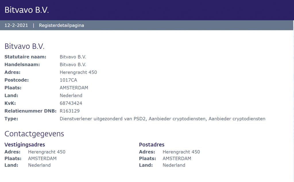 Registratie bij De Nederlandsche Bank (DNB)