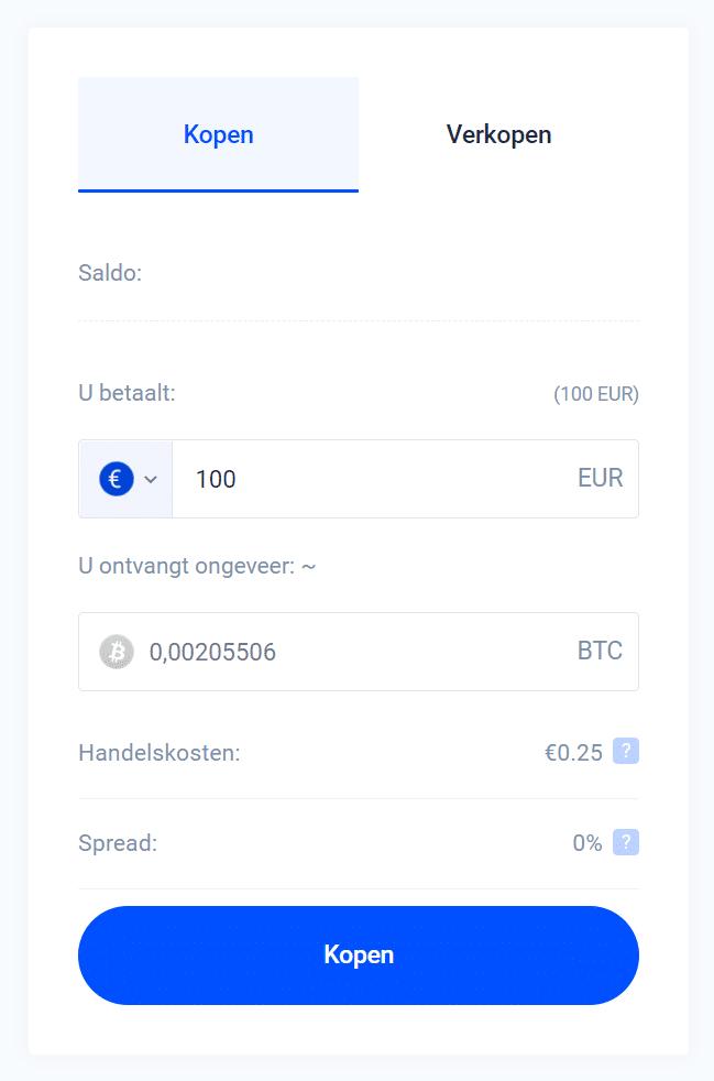 Bij Bitvavo Bitcoin kopen